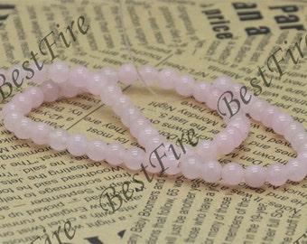 6 mm Pink Jade Round beads Gemstone,Jade loose beads,round Jade bead loose strand 15 inch