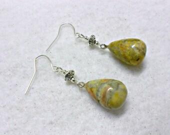 Stone Earrings, Gemstone Earrings, River Rock Earrings