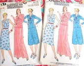 UNCUT FF Misses'  Butterick 5970 Dress, Top and Skirt Pattern sizes A and B