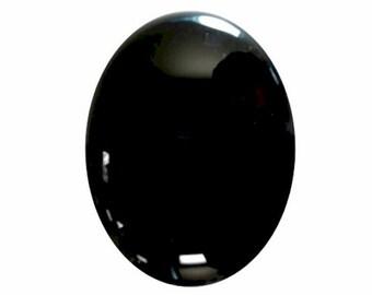 25x18mm Black Onyx Flat Back Cabochon loose gemstone 671x
