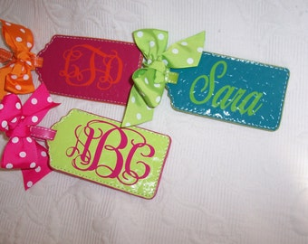 Personalized Luggage Tag LIME & HOT PINK