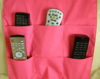 Remote Control Caddy/Holder 6 pocket Pink Flamingo