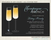 PRINTABLE - Bridal Shower Brunch, Luncheon, Bachelorette Party Invitation / Engagement  (Champagne Celebration)