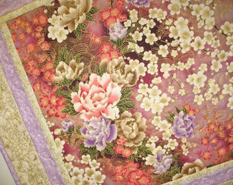 Elegant Wall Hanging or Table Topper Floral fabric from RJR, Kaufman, M Miller