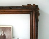 Carved Antique Wooden Leaf Frame - 4EnvisioningVintage