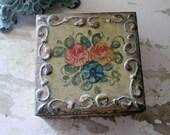 Vintage Florentine Trinket Jewelry Box