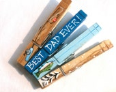 BEST DAD CLOTHESPIN painted magnetic clip