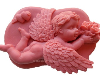 Cupid Cherub Soap Handcrafted Handmade Novelty Love 4oz U Pick Scent & Color