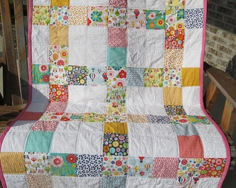 Baby, Toddler Bedding, Patchwork Quilt, Kid's Blanket, Lap Quilt, Crib Blanket, Crib Quilt, Lap Quilt, Choose your fabrics by color or theme