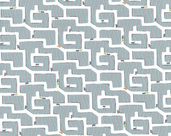 Ant Maze in Gray PS-5343 - BACKYARD BABY - Michael Miller Fabrics - By the Yard