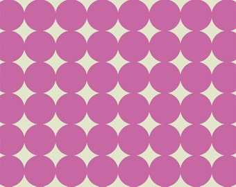 Mod Dot in Orchid  (PWTC014) - Heather Bailey TRUE COLORS - Free Spirit Fabric  - By the Yard