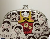 Medium Handmade Coin Purse - Russian Dolls