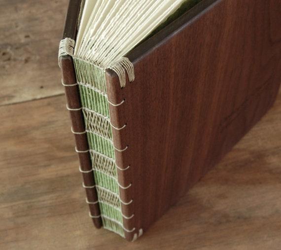 wedding photo album scrapbook - custom unique wood book Black Walnut - anniversary retirement memorial gift -  large  - made to order
