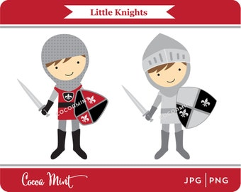 Little Knights Clip Art