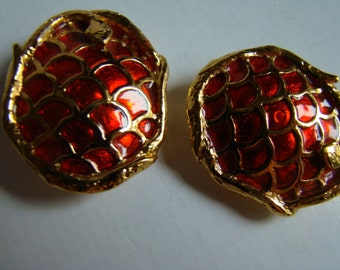 YSL Yves Saint Laurent Snake   Earrings