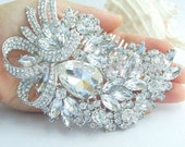 EXTRA LARGE Fancy Crystal Brooch/Ornament, Crystal Brooch, Rhinestone Brooch, Wedding Dress Brooch, Wedding Cake Brooch, Bouquet Brooch