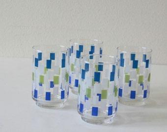 Vintage geometric cocktail tumblers