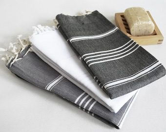 SALE 50 OFF/ Head and Hand Towel / Classic Style / SET / 3 Towels