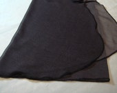 "14"" Black and White Minidot Chiffon Adult Ballet Wrap Skirt"