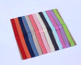 1 Solid Colored Elastic Headband/ Elastic Headband/ Solid Colored Headband/ No Dent Headband/ No Knot Elastic Headband