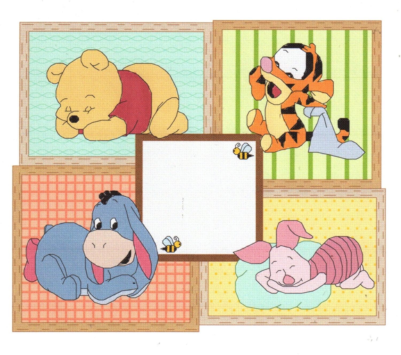 Baby Pooh Birth Announcement Cross Stitch Pattern Winnie the – Winnie the Pooh Birth Announcement