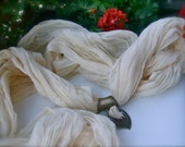 Romantic Ivory cotton scarf - cotton summer scarf -  warm and cozy - Boho style  - Feminine - Draped -Ivory white soft  cotton scarf