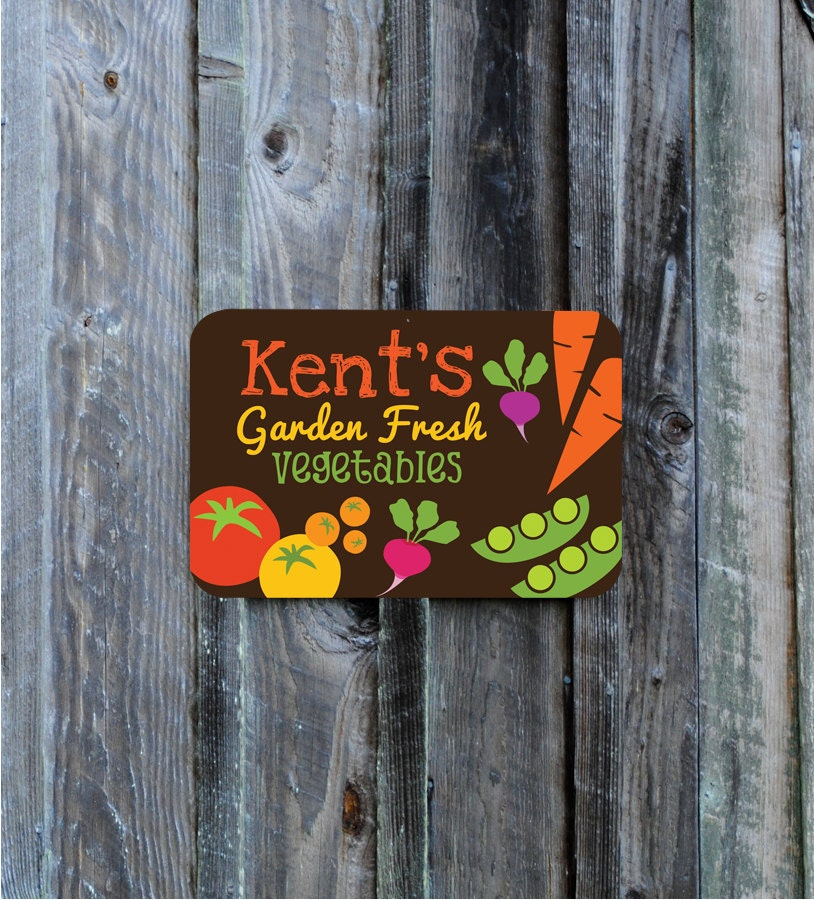Customized Vegetable Garden Sign 18 X 12 By