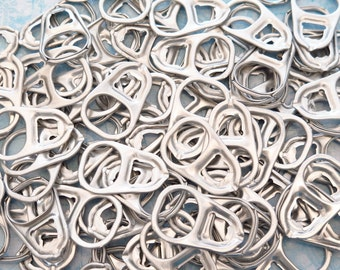 100 Large Soda Can Pop Tabs - Large Aluminum Can Pull Tabs