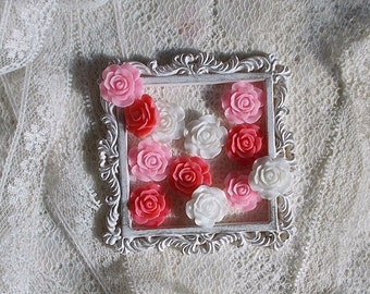 Rose, Resin, Cameo, Cabochon, Scrapbooking embellishment, Card Making, Mixed Media, I LOVE YOU