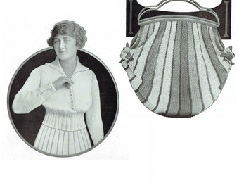 Vintage 1910s Patterns Edwardian Royal Society Crochet and Knitting Number 11