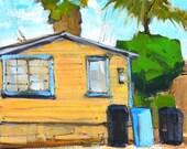 Ocean Beach Cottage-  San Diego Landscape Painting