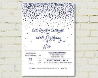 Dots Galore Invitation - Engagment, Bridal Shower, Baby Shower, Birthday