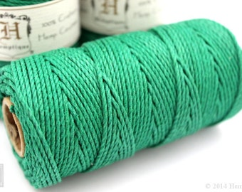 2mm Green Hemp Cord, 48lb Hemp Twine, Macrame Supplies