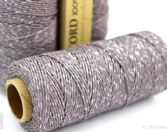 Purple Metallic Hemp Cord, 1mm 20lb Polished Hemp Craft Cord