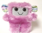 Teasdale the Purple faux fur plush monster