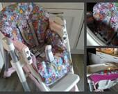 PDF Pattern DIY high chair cover / Patron et tuto PDF housse chaise haute prima pappa diner