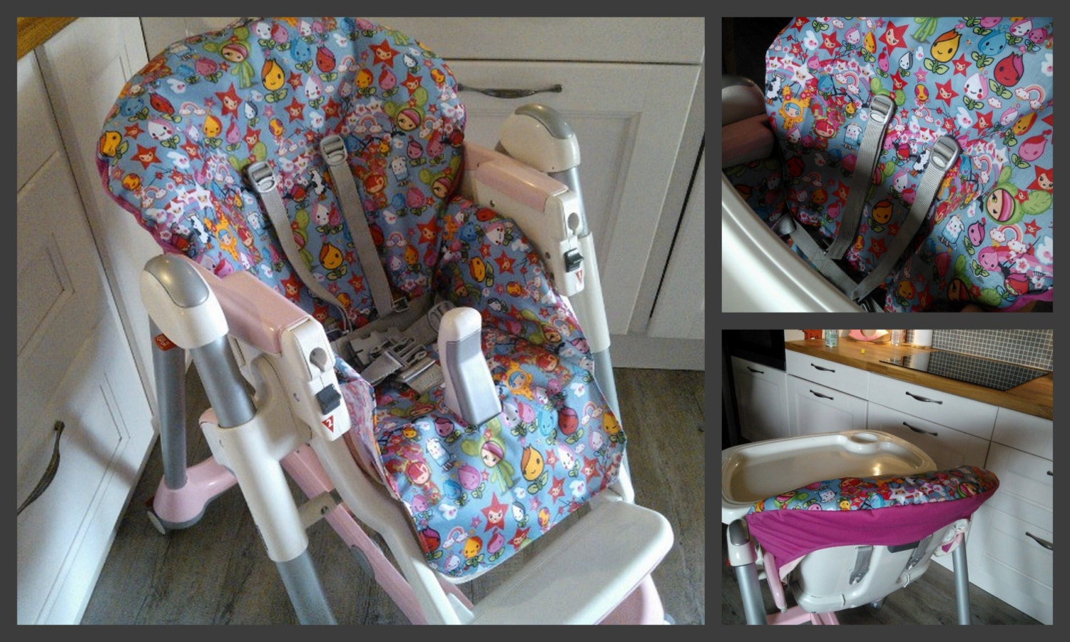 Pdf pattern diy high chair cover patron et tuto pdf for Coudre housse chaise