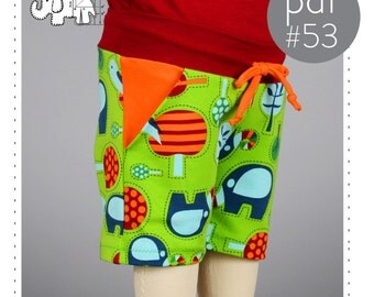 Childrens shorts sewing pattern with pockets // photo tutorial // digital download // 0M-6T // #53