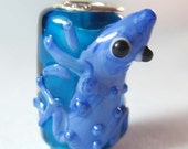 1Pc Murano Glass Pipe Bead Finding Fit Charm European Bracelet Jewelry Frog 19mm x 15mm x 11mm  jaz423