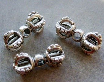 15Pieces Tibetan Buddhist Alloy Metal Vajra Dorje Beads DIY Jewelry Finding--15Pcs--15mm x 8mm  ja216