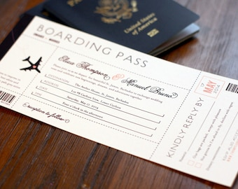 Boarding pass invite | Etsy