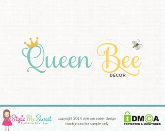 Bee Logo Design Crown Logo Design Photography Logo Graphic Design Photographers Logo Sewing Logo Design Premade Logo Design Bakery Logo