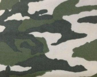 Camo - FLANNEL Fabric - BTY