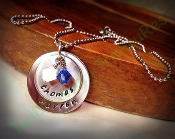 Hand Stamped 2-Tier Stainless Steel Name Necklace