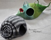 """cat-cave """"snail with stripes""""any colour you like"""