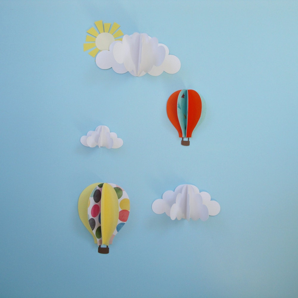 kids wall decor set of 3d wall decals 3d wall art nursery decor - Kids Wall Decor