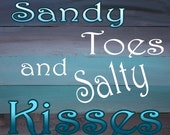 Sandy Toes- Print from Original Wood Painting