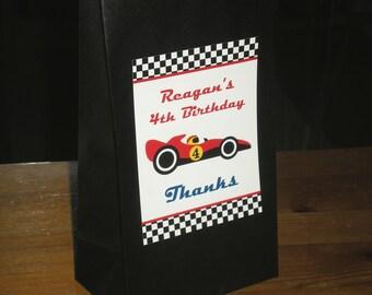 Race car party Favor/Treat bags - Set of 12