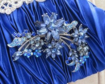 Royal Blue Wedding Clutch, Sapphire Blue Bridal Clutch, Blue Bridesmaid Handbag Purse, Royal Blue Wedding Clutch Bag, Bride's Something Blue