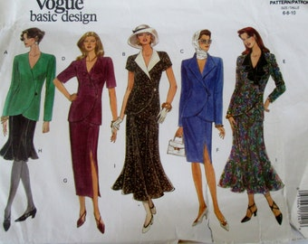 Vogue Basic Design 1210 Womens Top and Skirt Sewing Pattern Bust 30 31 32